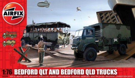 Airfix byggesett 1/76 Bedford QLT and Bedford QLD Trucks A03306