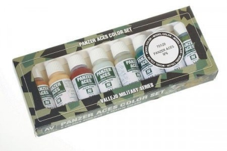 Vallejo Panzer Aces No.6 (Skintones, Camouflage) 8 stk. 17ml