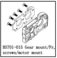 701-015 BSD GEAR MOUNT/FR, SCREWS/MOTOR MOUNT