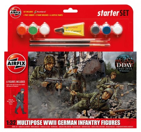 Airfix Starsett 1/32 Multipose WWII German Infantry Figures A55210