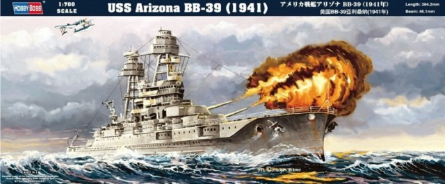 HobbyBoss 1/700 USS Arizona BB-39 (1941)